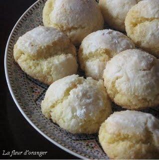 macarons marocains aux noix de coco et semoule