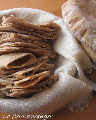 Pain pita à la farine complète