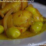 Poulet au safran, coriandre et citron confit