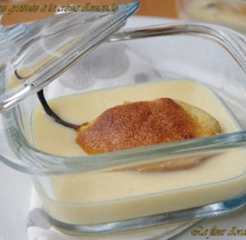 Poires gratinées à la crème d'amande