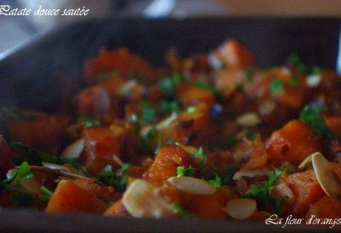 Patates douces sautées legèrement caramélisées