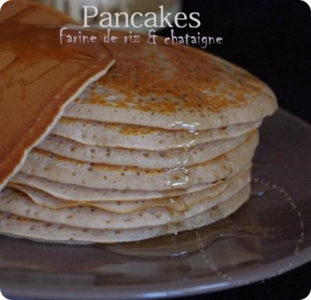 Pancakes à la farine de riz et chataignes