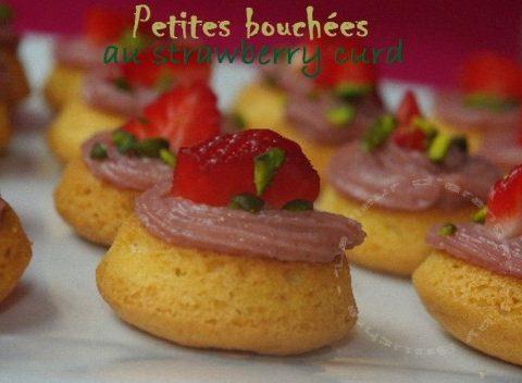 Petites bouchées aux fraises, façon tartelettes