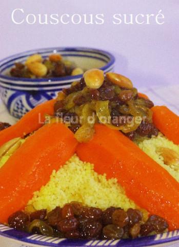 Couscous tfaya : Couscous sucré