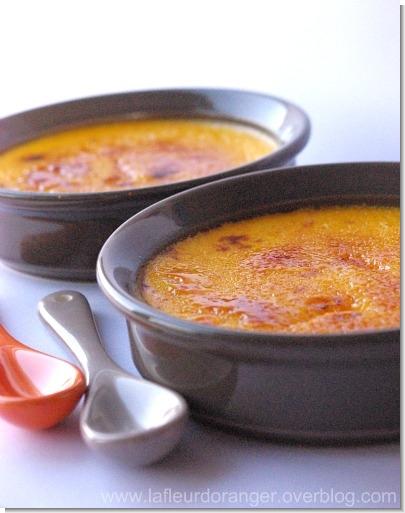 Crème brulée aux carottes et à la cardamome