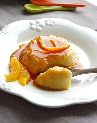 Flan au caramel à l'orange