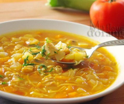 Chorba : Soupe aux légumes coupés