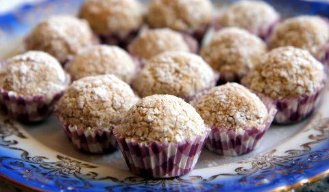 Bouchées aux amandes et aux noix de coco