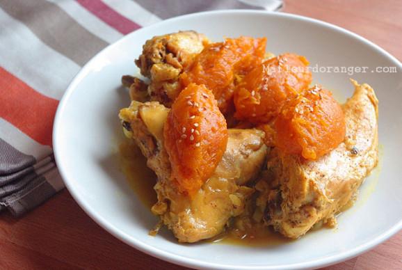 Tajine de poulet à la confiture de citrouille