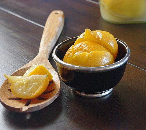 Citron confit à la marocaine
