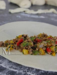 Gozleme à la viande épicée : Crêpes turques