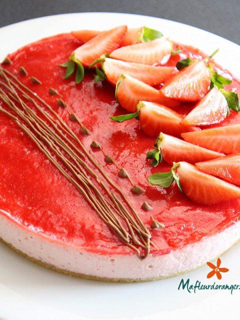 Bavarois aux fraises