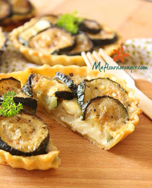 Tarte aux courgettes & fromage de chèvre en plus d'un livre sur les légumes !
