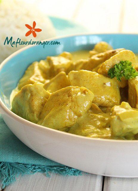 Curry de poulet à la crème