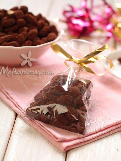 Amandes au chocolat, idée de cadeau gourmand !