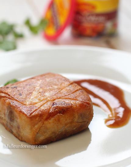 Pastilla au boeuf, écrasé de potiron aux saveurs épicées