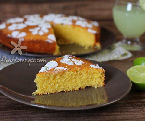 Gâteau sans gluten à la polenta et citron vert