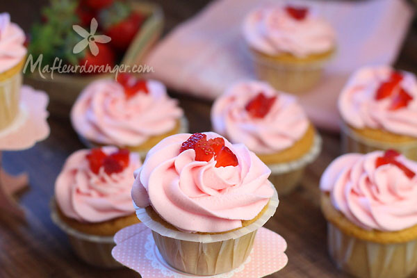 Cupcakes aux fraises