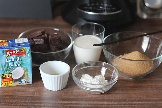 Crème au chocolat et noix de coco