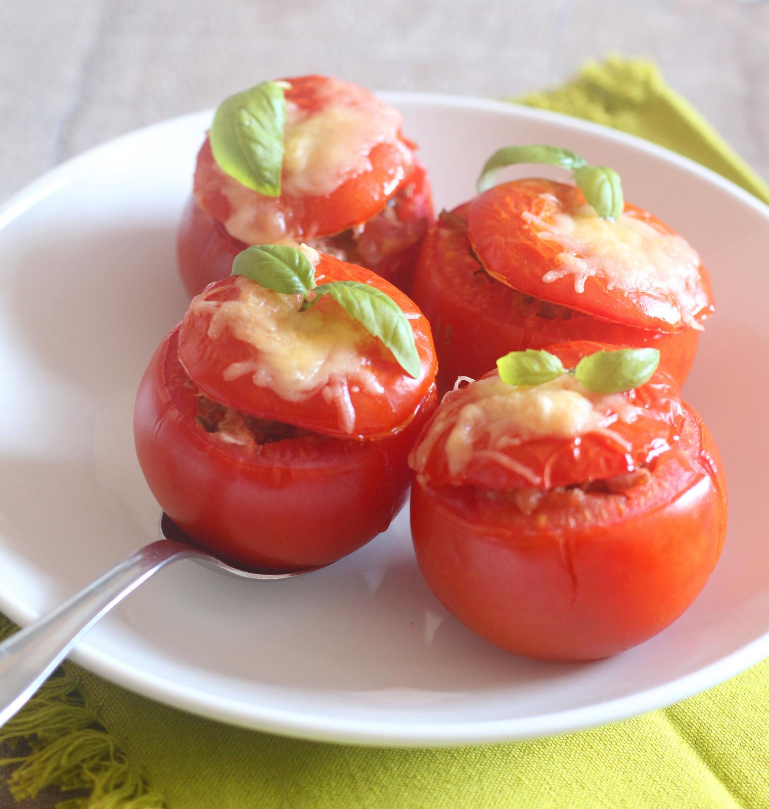 Cuisine estivale : Tomates gratinées au thon