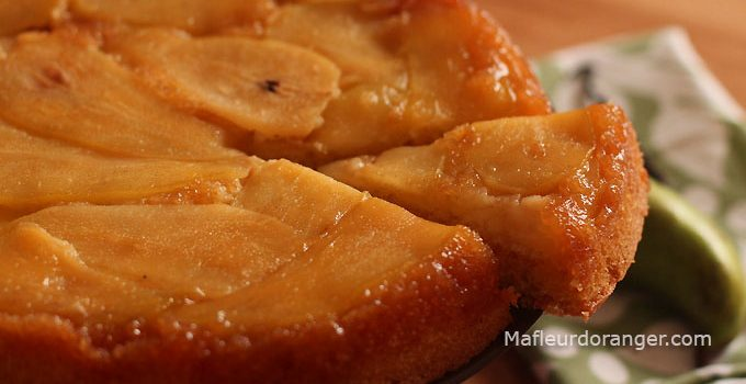 Gâteau aux poires caramélisées
