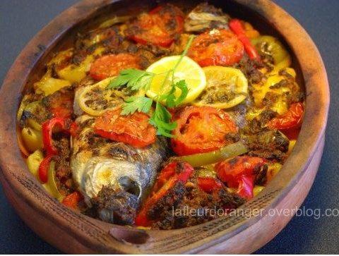 Tajine de poisson au four à la marocaine