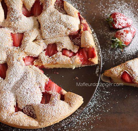 Gâteau moelleux à la fraise !