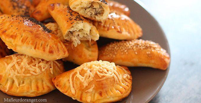 Chaussons au thon et poireaux sans pâte feuilletée !
