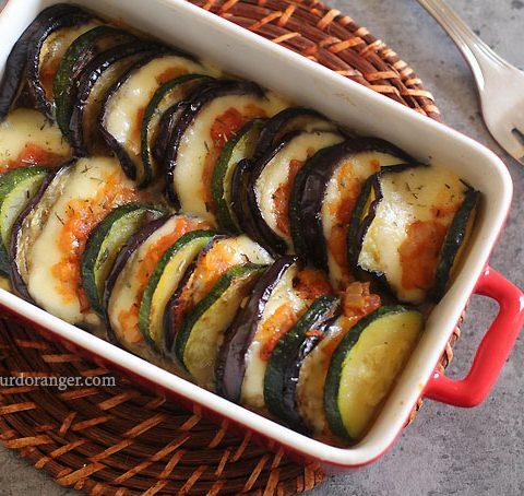Tian  aux légumes d'été et fromage