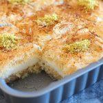 Konafa à la crème au lait et fromage