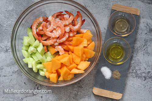 préparation salade