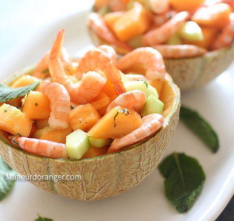 salade melon et concombre