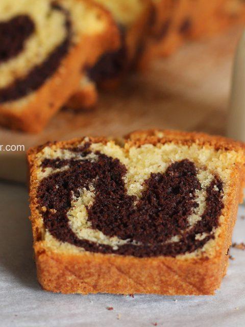 Marbré au chocolat et vanille , super moelleux