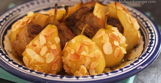 Tajine aux poires et amandes