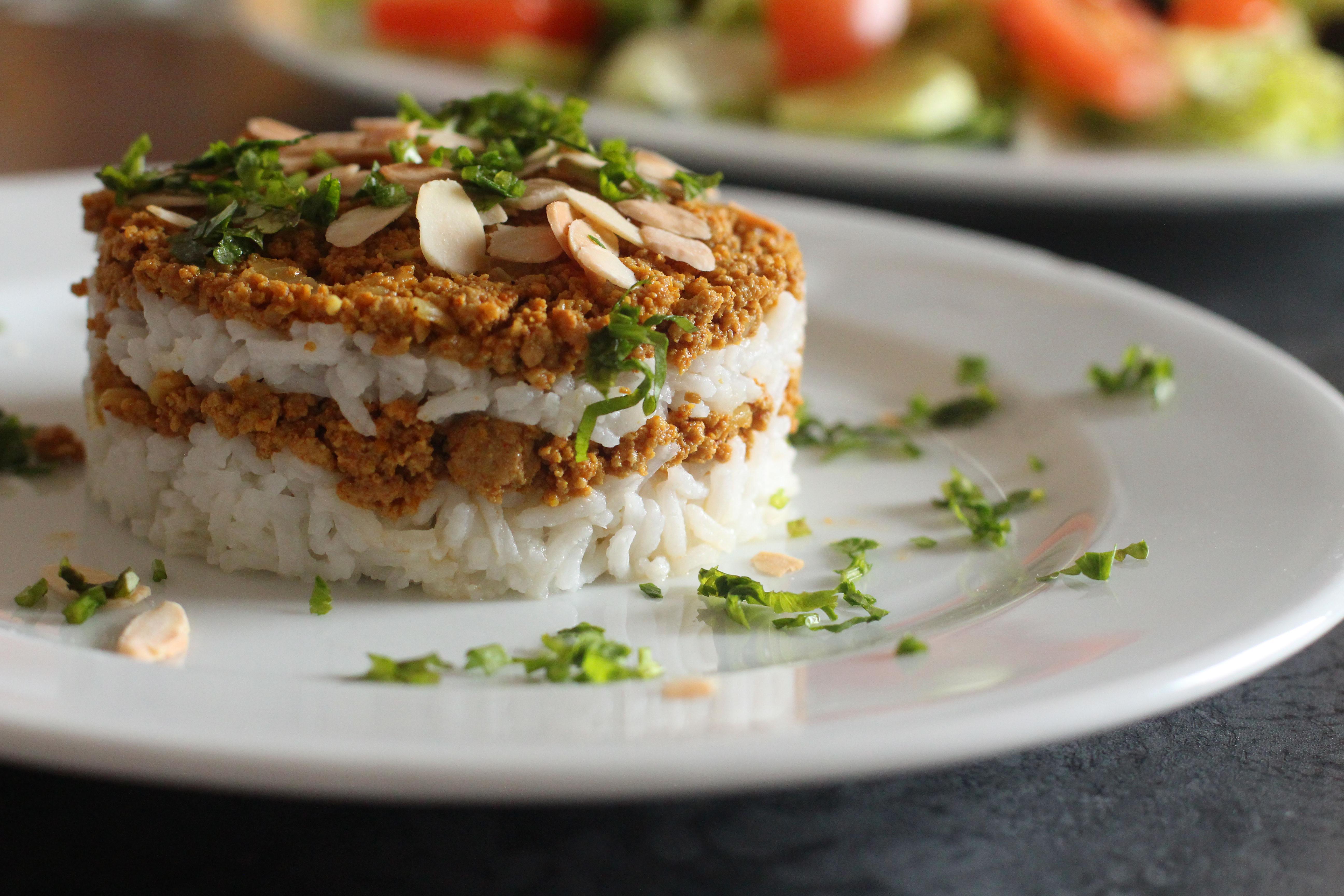curry de viande et riz