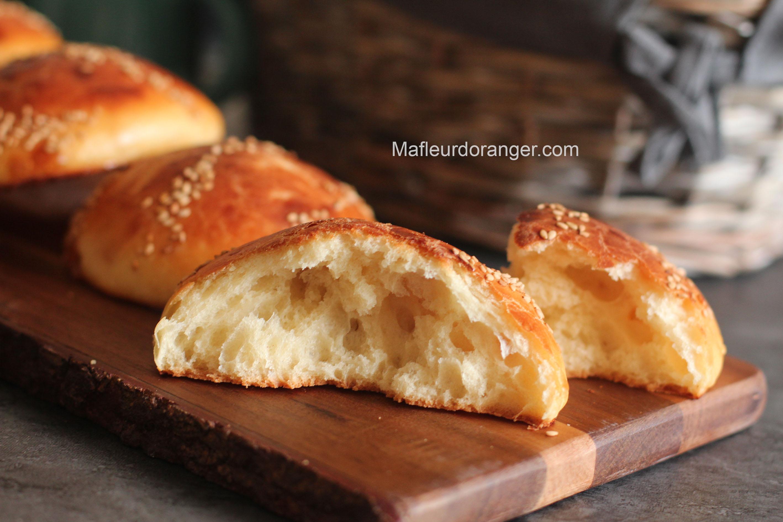 petits pains brioché sans pétrissage