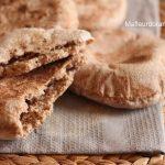 Batbout ou pain à la poêle à la fairne de blé complète