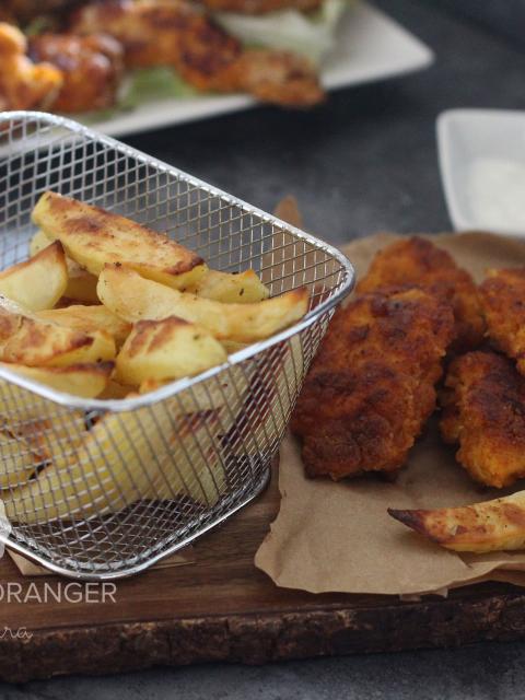 Nuggets de  poulet et frites au four