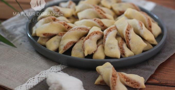 Biscuits torsadés , fourrés aux cacahuètes