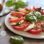 Salade au tomate et mozarelle