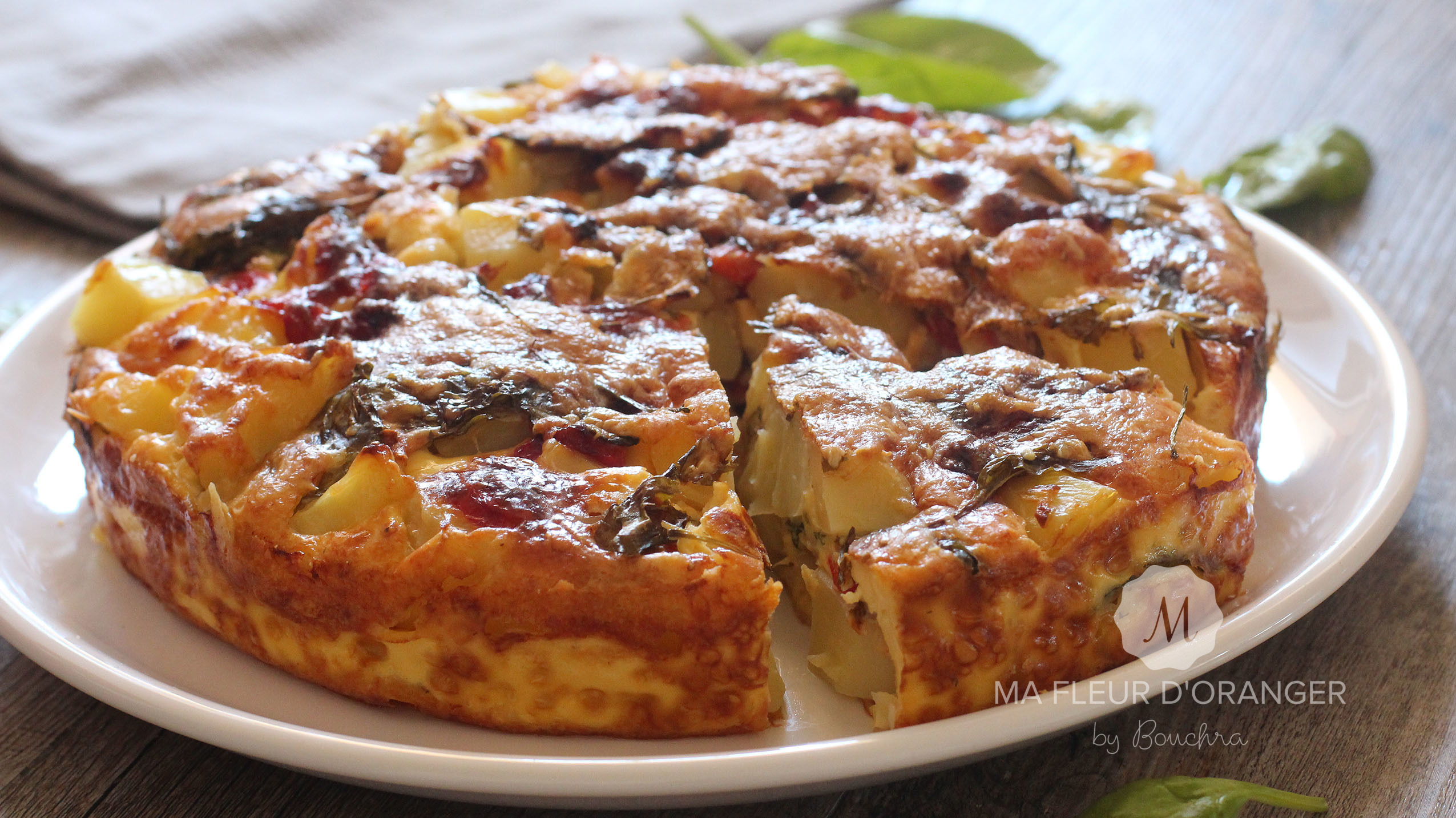 Tortilla Au Four Aux Pommes De Terre Et Legumes
