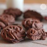 Rosaces sablées au chocolat