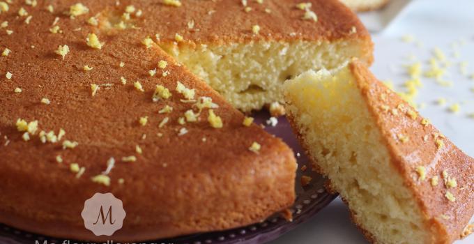 Gâteau italien   au citron et l'huile d'olive