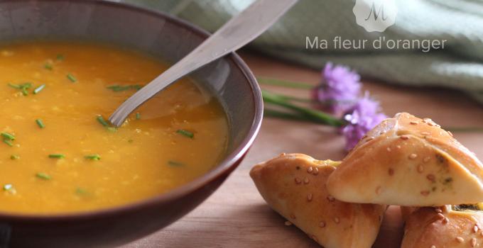Soupe & Fatayer poisson / épinards