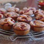 Petits cakes aux fraises !