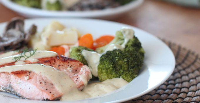 Filet de saumon et sa sauce crémeuse !