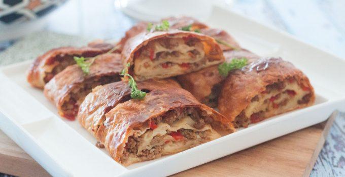 Bourek roulé ,feuilleté et délicieux !
