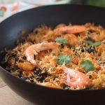 Vermicelles de riz aux fruits de mer